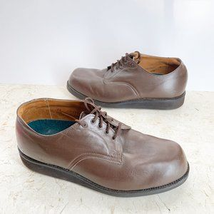 Alden Super D Shoes 8.5 Brown Nappa Leather Oxford